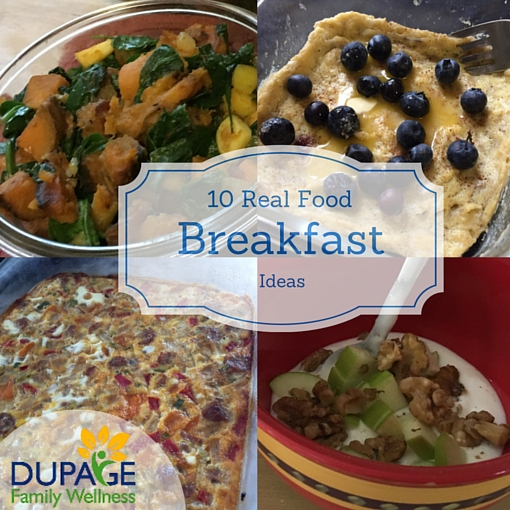 10 real food breakfast ideas