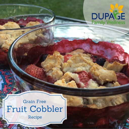 grain free fruit cobbler