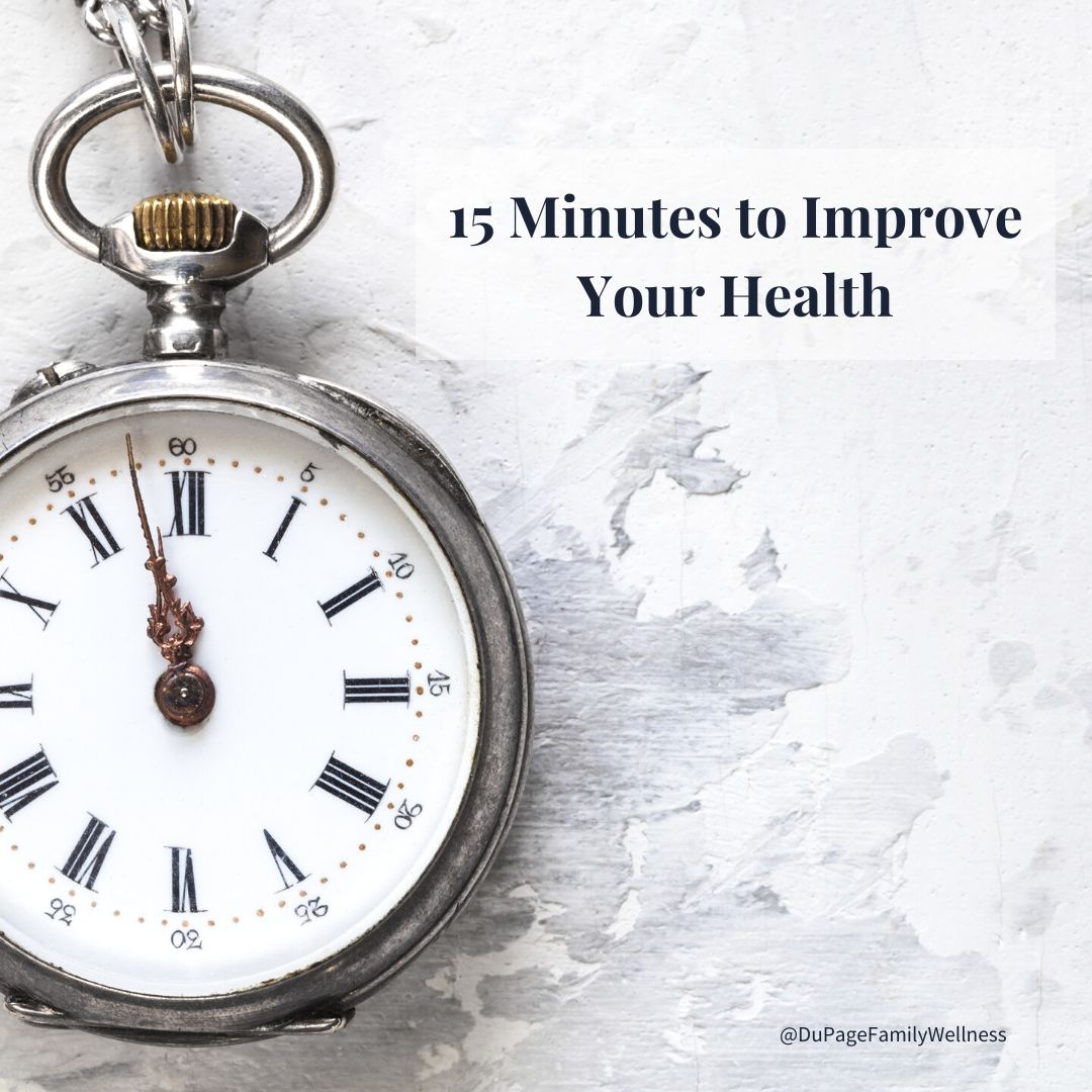 15 minutes to improve your health