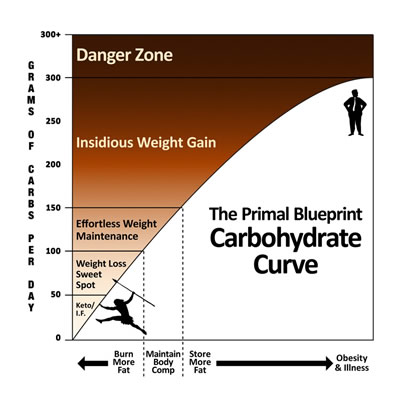 Carbohydrate Curve from Mark's Daily Apple