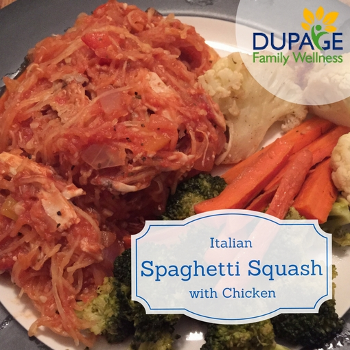 Italian Spaghetti Squash with chicken