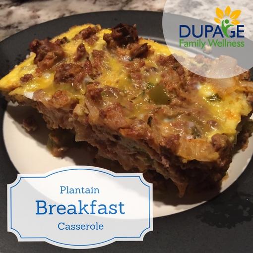 Plantain Breakfast Casserole