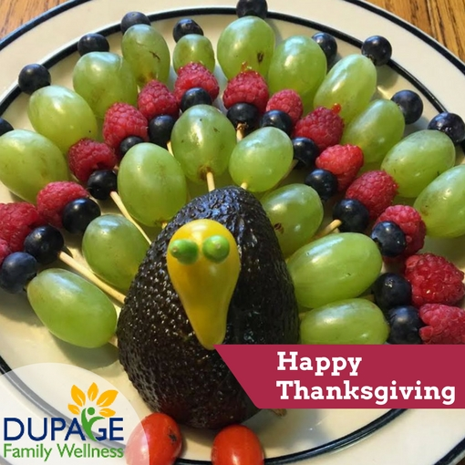fruit  traay shaped like a turkey for thanksgiving