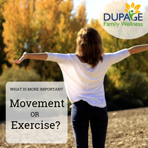 movement or exercise