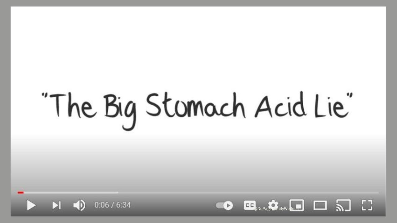 stomach acid lie video