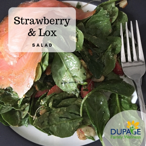 strawberry lox salad